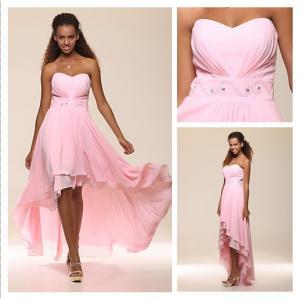 Buy cheap Vestido de noche formal de ruborización del amor 2013 nupciales del ángel nuevo de la gasa del vestido alto-bajo rosado del baile de fin de curso con Beadings #00169406 product
