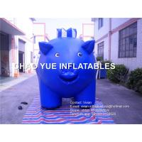 Buy cheap Blue Color Pig Replica Inflatable Advertising Products Cartoon Pig Shaped product