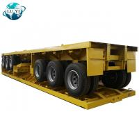 Buy cheap heavy duty 3 axle 40ft 20ft shipping container delivery  Flatbed semi trailer flatbed  dump trailer product
