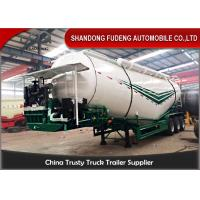 Buy cheap 3 Axles Bulk Cement Tanker 30-75 CBM  Mechanical / Air / Bogie Suspension product