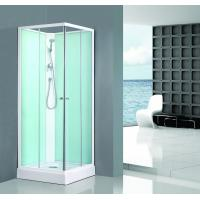 China Square Bathroom All Glass Shower Enclosures PVC Middle Panel White Back Painting on sale