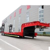 Buy cheap 24V Low Bed Semi Trailer 100 Tons 6 Axles In Three Lines Gooseneck Drop Deck Truck product