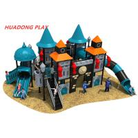 Buy cheap European And Korea Castle Outdoor Playground Slides Kid Plastic Amusement Park from wholesalers