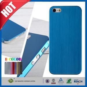 Buy cheap Caja que lleva a prueba de choques del teléfono celular del resbalón del cepillo ultra fino del azul no para Iphone 5 5s product