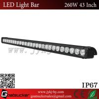 China 10-48V DC 43 /49/53  Inch 260W Single Row Car LED Light Bar For Offroad wholesale