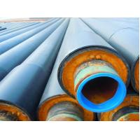 Quality A53 - A369 Insulated Steel Pipe , Thermal Insulation Polyurethane Composite Foam Steel Pipe for sale