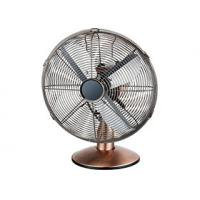 Oil Rubbed Bronze Small Retro Desk Fan 12 Inch Air Cooling For European Market