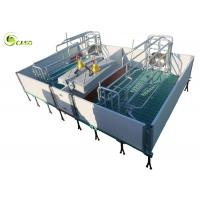 Buy cheap Galvanized Adjustable Floding Pig Farrowing Crate Plastic Hollow Panel Pig Stall product