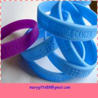 China cheap plain debossed silicone wristband on sale