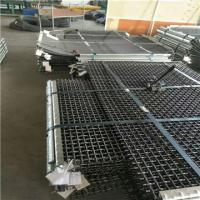 Woven wire mesh for screening minerals