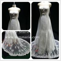 Appliqued Lace Strapless Wedding Dress Bridal Gown With Rhinestones Band BYB 14503 Of Mmmarie