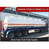 Buy cheap 9000 Gallon Fuel Tanker Semi Trailer Optional Dimension High Strength Steel Material product