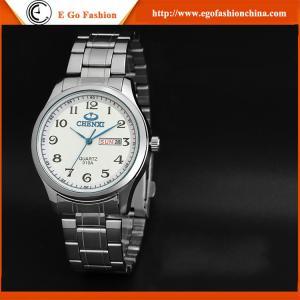 montre d'acier inoxydable de fonction de la date du jour 010A pour les montres occasionnelles de montre de sports d'homme d'affaires
