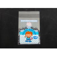 Buy cheap Clear Plastic Display Self Adhesive Poly Bags For Clothing Gloss Finish from wholesalers