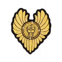 China Heart Type Military Bullion Badges , Shoes Custom Embroidery Patches wholesale