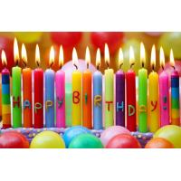 Buy cheap Fancy Rainbow Color Long Birthday Candles With Happy Birthday Letters Painted from wholesalers