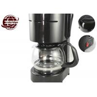 China Black PP/Glass 600W/220-240VHousehold Coffee Makers Automatic Coffee Machine With 4-6 Cups on sale