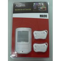 Buy cheap Low Indicator Wireless PIR Motion Sensor Alarms CX - MA90 - I With Two Remote Control product