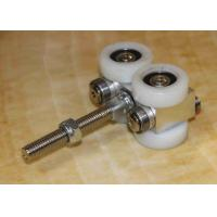 Buy cheap Sliding Trolley Accordion Door Hardware , Partition Wall Components White Color product