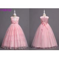 China Child Floral Light Pink Flower Girl Dresses , 3-8 Year Flower Girl Bridesmaid Dresses on sale