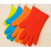Buy cheap Food Grade Silicone Kitchen Glove Heat Resistant  BBQ Oven Mitts For Outdoor product