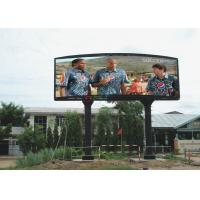 Buy cheap Full Color P10 16 bit Ture Color 1R1G1B led screen / Curved LED Display Good Performance product