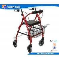 Buy cheap Mobility Medicare lightweight folding walker with wheels , collapsible walkers product