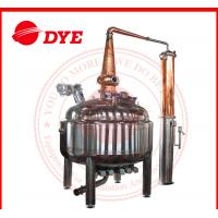 Quality Red Copper Pot Still Distillation Industrial For Low Alcohol Concentration for sale