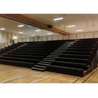 Travelling Retractable Gym Seating , Telescopic Seating Systems With Polymer Seat