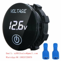 Buy cheap DC 5V-48V LED Panel Digital mini round led voltmeter with Touch ON OFF Switch product
