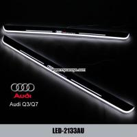 China Audi Q3 Q7 car accessories upgrade new led door moving scuff plate lights wholesale