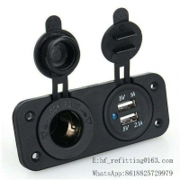 Buy cheap 3.1A Dual USB Port Socket Charger Powe Socket with Two Hole Panel product