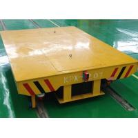 Buy cheap Concrete factory floor flatbed rail car with turning system product