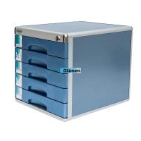 Portable Metal Architecture Cabinets : Industrial portable steel blue office file cabinet five