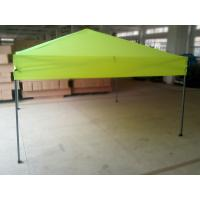 China Custom Green Square Folding Gazebo Tent / Polyester ez up 10x10 tent on sale