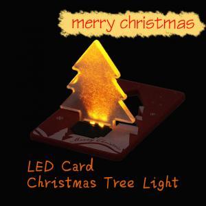 China christmas decoration pocket folding xmas tree shape led light on