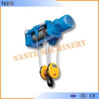 High Efficiency 0.5 Ton / 1 Ton Electrical Wire Rope Hoist For Mining / Factory / Dock