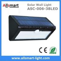 China 3 Lighting Mode 38LED Solar Wall Light For Garden China Manufacturer on sale