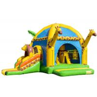 Buy cheap Big Party Giraffe Inflatable Bounce House With Slide Digital Printing Enviroment - Friendly product