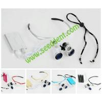 China Colorful 3.5X Magnifying Glass Surgical Dental Loupe with head light SE-K012 on sale