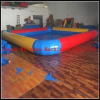 Buy cheap PVC 0.9 yellow and red color inflatable swimming pool large inflatable pool for sale product
