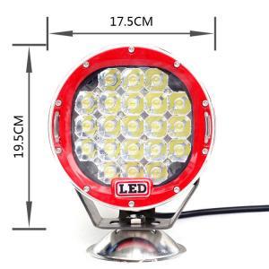 China 63 Watt Cree 7 Inch Round Car LED work light Headlights Black/Yellow/Red/Blue Aluminum Housing on sale