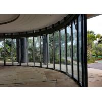 Buy cheap Sliding Curved Glass Partition Wall Magnetic Strip Polyester Powder Coating product