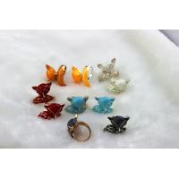 silver unisex metal finger rings with fox costume