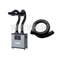 Buy cheap Two Arms 200w 110v Fume Extractor , Grey Color Fume Eliminator With 4 Wheels product