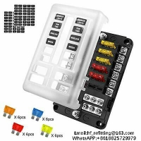 Buy cheap 32V 12 Way Car Fuse Box Blade Fuse Block Holder Screw Terminal W/Negative Red Indicator Hot cake product