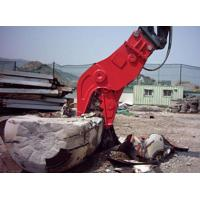 China Concrete Cat Excavator Attachments No Vibration Jaws Movable Clampes Fixed on sale