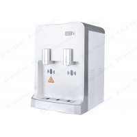 Buy cheap 106 Desktop Touchless White POU Water Dispenser  Hot and Cold water cooler with Hand Sensor product