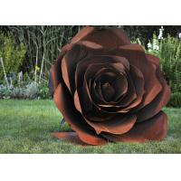 Buy cheap Modern Garden Decor Delicate Corten Steel Rose Sculpture For Sale from wholesalers