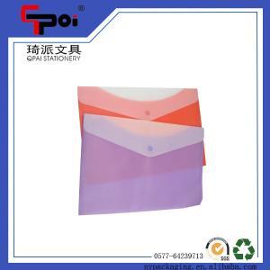 Buy cheap Saco Eco-amigável macio plástico do documento das crianças com o saco transparente do arquivo do botão product
